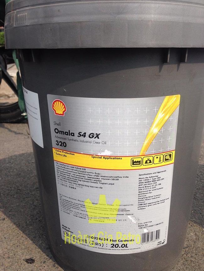 Dầu bánh răng công nghiệp Shell Omala S4 GX 320 Xô 20L